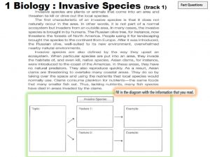 Invasive Species Ielts Reading Answers