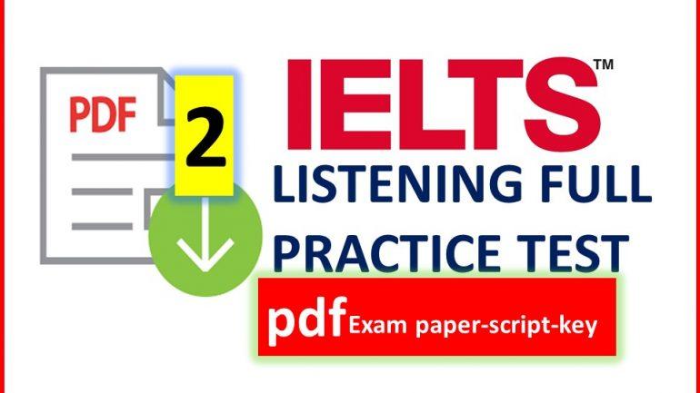 IELTS LISTENING FULL PRACTICE TEST with exam advice – IELTS TOEFL