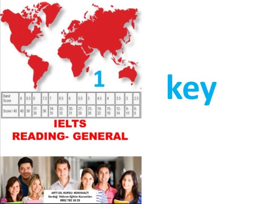 IELTS-GENERAL READING-KEY